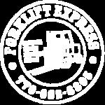 all white logo for Forklift Express